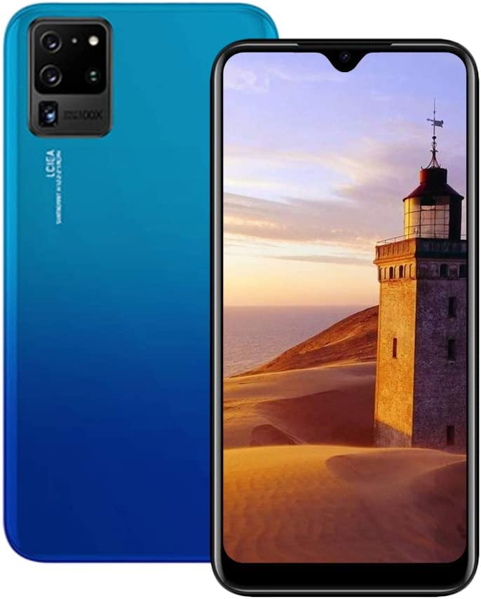 Unlocked Cell Phones, s10pro 3G (WCDMA:850/2100MHZ) Android Smartphone, 6.26inch IPS Full-Screen, 3G Dual SIM,2GB RAM 16GB ROM, Android 7.0 MTK6580 Quad Core,3800mAh(Blue)