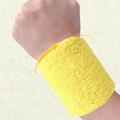 Hunpta Baumwoll Armbänder Handgelenkband Bands Schweißbänder Schweißband für Sport Tennis F