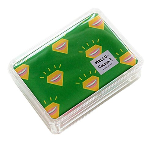 [Lovely Stylish Contact Lenses Case Storage Holder Green] (Prescription Colored Contact Lenses)