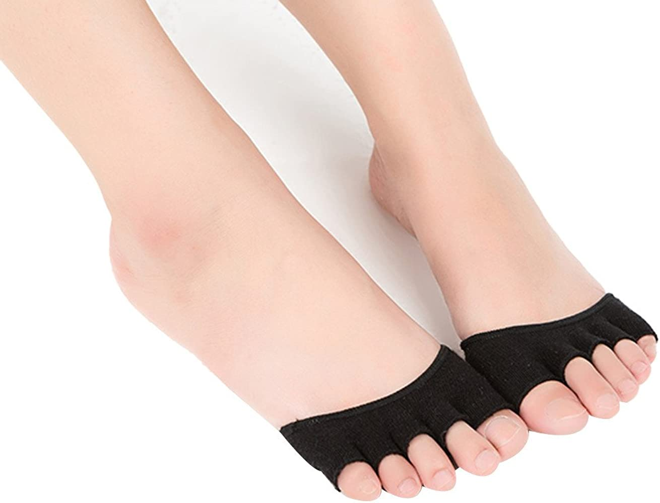 Tosonse Calcetines De Yoga Invisibles Para Mujer, Calcetines Sin ...