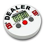 Trademark Poker Digital Dealer Button Poker Timer, White