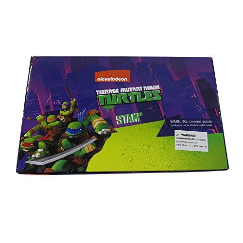 Officially Licensed 60 Piece Self Inking Stamp Set - Teenage Mutant Ninja Turtles (Ninja Turtle Stamps compare prices)