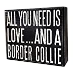 JennyGems - All You Need is Love and a Border Collie - Real Wood Stand Up Box Sign - Border Collie Gift Series - Border Collie Moms and Owners - Shelf Knick Knacks 6