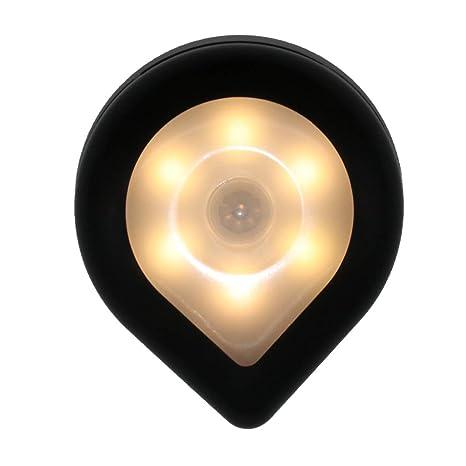 Luz con sensor de movimiento, luz LED de noche a pilas, luz ...