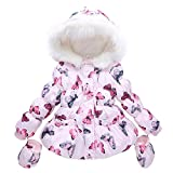 Children Clothes Winter Down Jacket for Girls Coat Outerwear (2T, Pink)