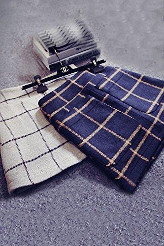 Autumn and winter the new A word skirt high waist skirt(Blue) - 2