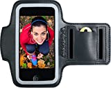 Sports iPhone 5, 5c, 5s Armband For Running & Exercise. Protection For Your iPhone 4, 4s & iPod Touch 5th Gen GUARANTEED! 2 Pockets For Gym Key & Card. Suits Women & Men For Jogging & Workouts.