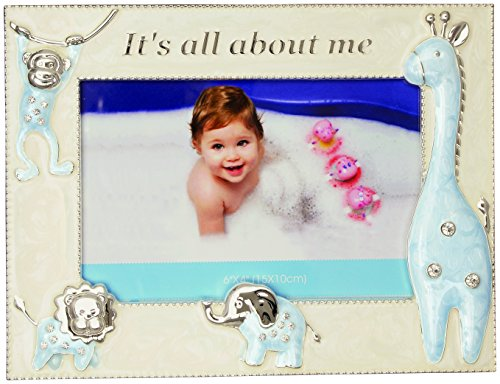 Carson Home Accents Photo Frame All About Me, Blue