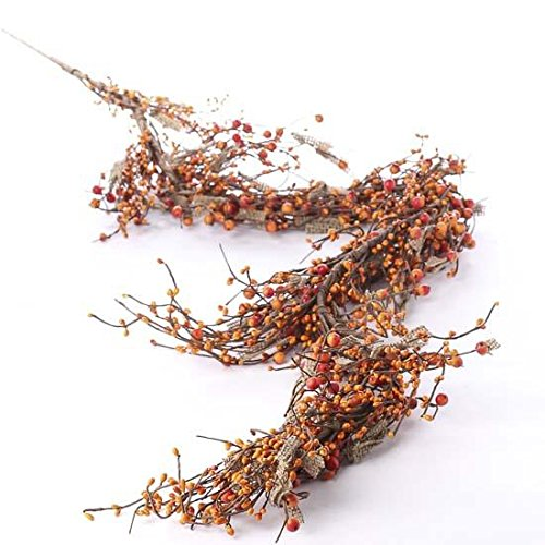 - Factory Direct Craft Mixed Autumn Berry and Burlap Decorative Garland for Home Decor, Accenting and Displaying