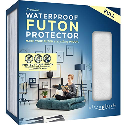 "Ultra Plush 100% Waterproof Premium Mattress Protector, Luxuriously Soft and Comfortable, Protects Against Dust Mites and Allergens, Snug, Fitted Fit for Full Size Futon Mattresses Up to 12"" Thick"