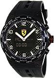 Ferrari World Time Carbon Fiber Dial Multinfuction Rubber Strap Mens Watch FE-05-IPB-FC, Watch Central
