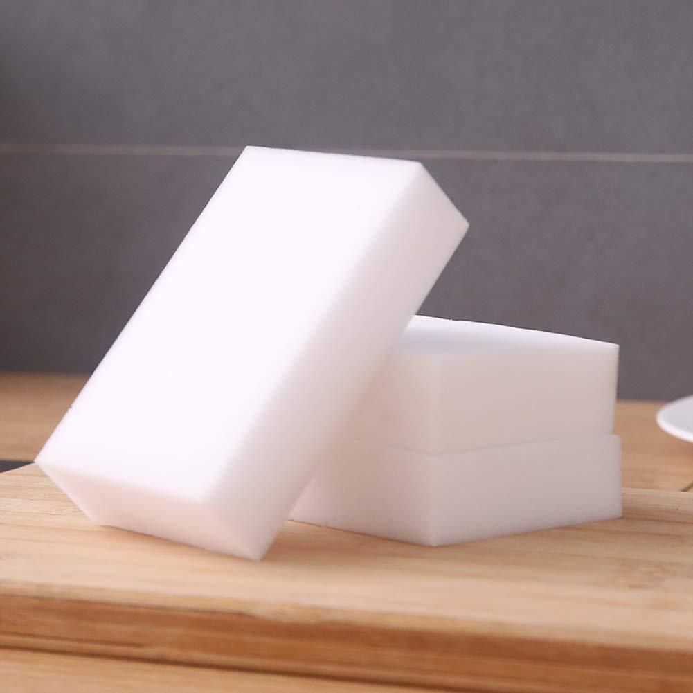 20 Pack de Esponjas M/ágicas de Limpieza Natural Eco Blanca Puede ser Cortado a la Medida Borrador M/ágico Almohadilla Quita Manchas