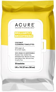 product image for ACURE - Cleansing Towelettes Coconut + Argan Oil - 30 Towelette(s).Pack of 2