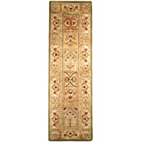 Safavieh Classic Collection CL305A Handmade Traditional Oriental Sage and Multicolored Panels Wool Runner (23 x 20)