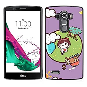 MOBMART Carcasa Funda Case Cover Armor Shell PARA LG G4 - I'M In Love With The World!
