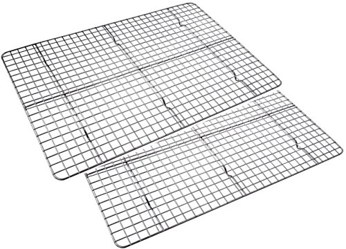 Checkered Chef Cooling Rack Baking Rack Twin Set. Stainless Steel Oven and Dishwasher Safe Wire Rack. Fits Half Sheet Cookie Pan by Checkered Chef (Image #7)
