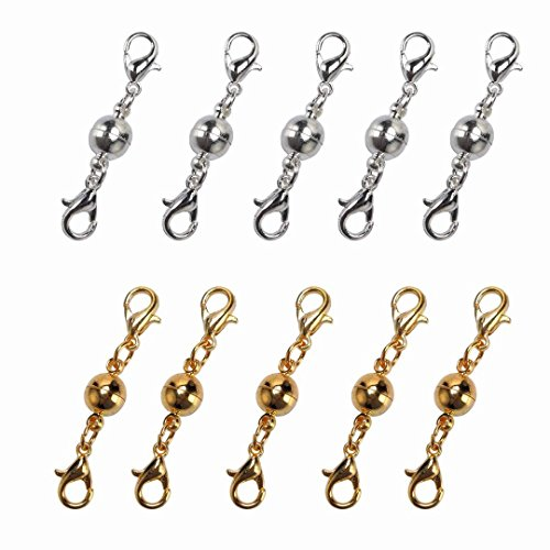 Price comparison product image SALOCY Magnetic Lobster Clasps for Jewelry Necklace Bracelet - 10pcs