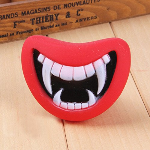 KAYI Pets Teething Stick Rubber Ball Chew Treat Pet Dog Puppy Doggy Training Playing Toy Halloween Teeth Mask