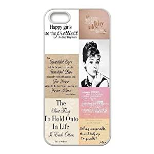 Audrey Hepburn Quotes Unique Fashion Printing Phone Case for Iphone 5,5S,personalized cover case ygtg-782016