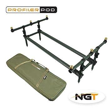 NGT Profiler Pod and Case Carp Coarse Fishing Rod Pod