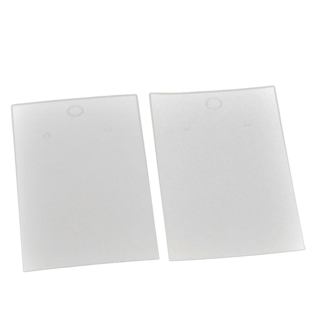HOUSWEETY 100PCs White Earrings Jewelery Display Cards 9x5cm(3 4/8x2) HOUSWEETYB20834-JC