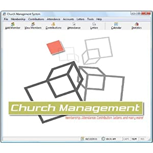 Church Management Software Professional System; Church Facilities, Office, Bookkeeping and Finances Administration Software; Windows Only CD-ROM; Single License (50,000 Members)