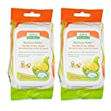 baking soda wipes - Aleva Naturals Bamboo Baby Pacifier and Toy Wipes with Natural and Organic Ingredients, 30 Wipes (5.9x7.9 in.,15 x 20cm) (Pack of 2)