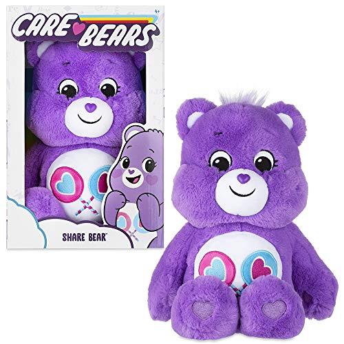 🥇 Basic Fun New 2020 Care Bears – Cuddly 14″ Stuffed Animal – Share Bear – Soft & Huggable!