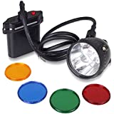 Kohree 80000LUX CREE 10W XML U2 LED Coyote Hunting Light KL11LM Mining Headlamp Headlight-With 4 Optical Filters