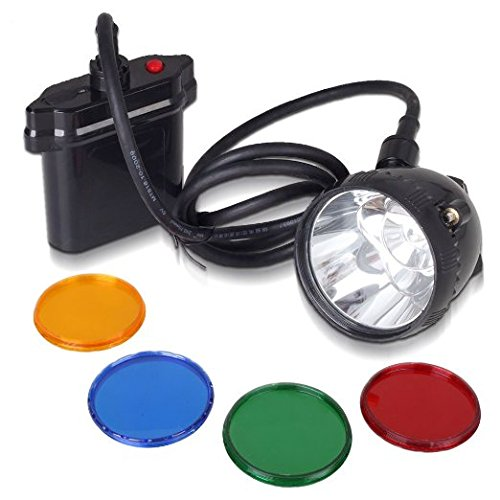 Kohree 80000LUX CREE 10W XML U2 LED Coyote Hunting Light KL11LM Mining Headlamp Headlight-With 4 Optical Filters Hunting Light