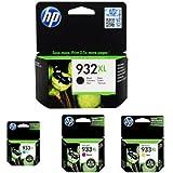 HP 932-933XL Black/Cyan/Magenta/Yellow High Yield Ink Cartridge Bundle
