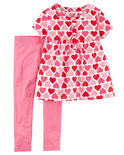 Carters Baby and Toddler Girls Valentines Day Pink