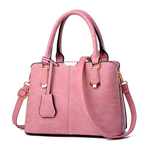 Nueva moda de mediana edad señoras bolso bolsa bandolera, gris oscuro Rosa