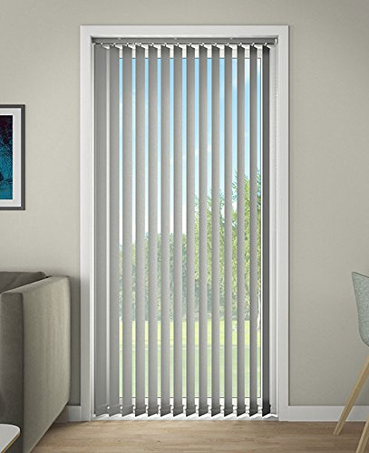 DEBEL 150 x 250 cm 100 Percent Polyester Line Vertical Blind, Black DECO GROUP 72180015