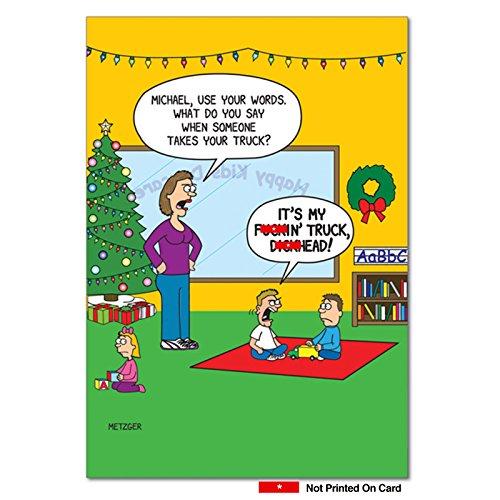 Adult Christmas Cards - F-kin D-ckhead - 12 Funny Adult
