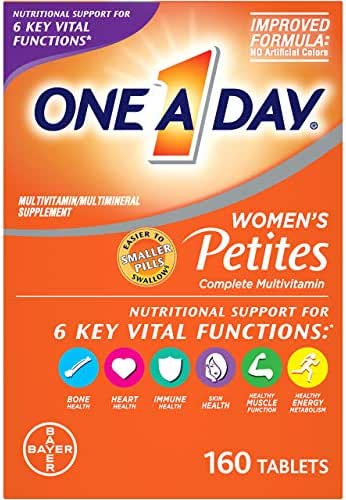 One A Day Women's Petites Multivitamin, Supplement with Vitamins A, C, E, Calcium, Biotin, and B-Vitamins, 160 count