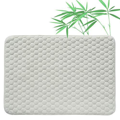 Quilted Pack N Play Crib Mattress Pad Liner Thicker Waterproof Changing Pad Liners by BlueSnail White Football Design