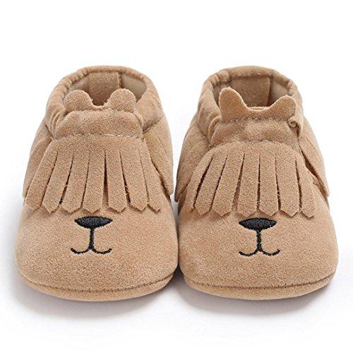 Clode® Baby Mädchen Jungen Karikatur Quasten weiche Stiefel Säuglingskleinkind neugeborene Erwärmungs Schuhe Braun