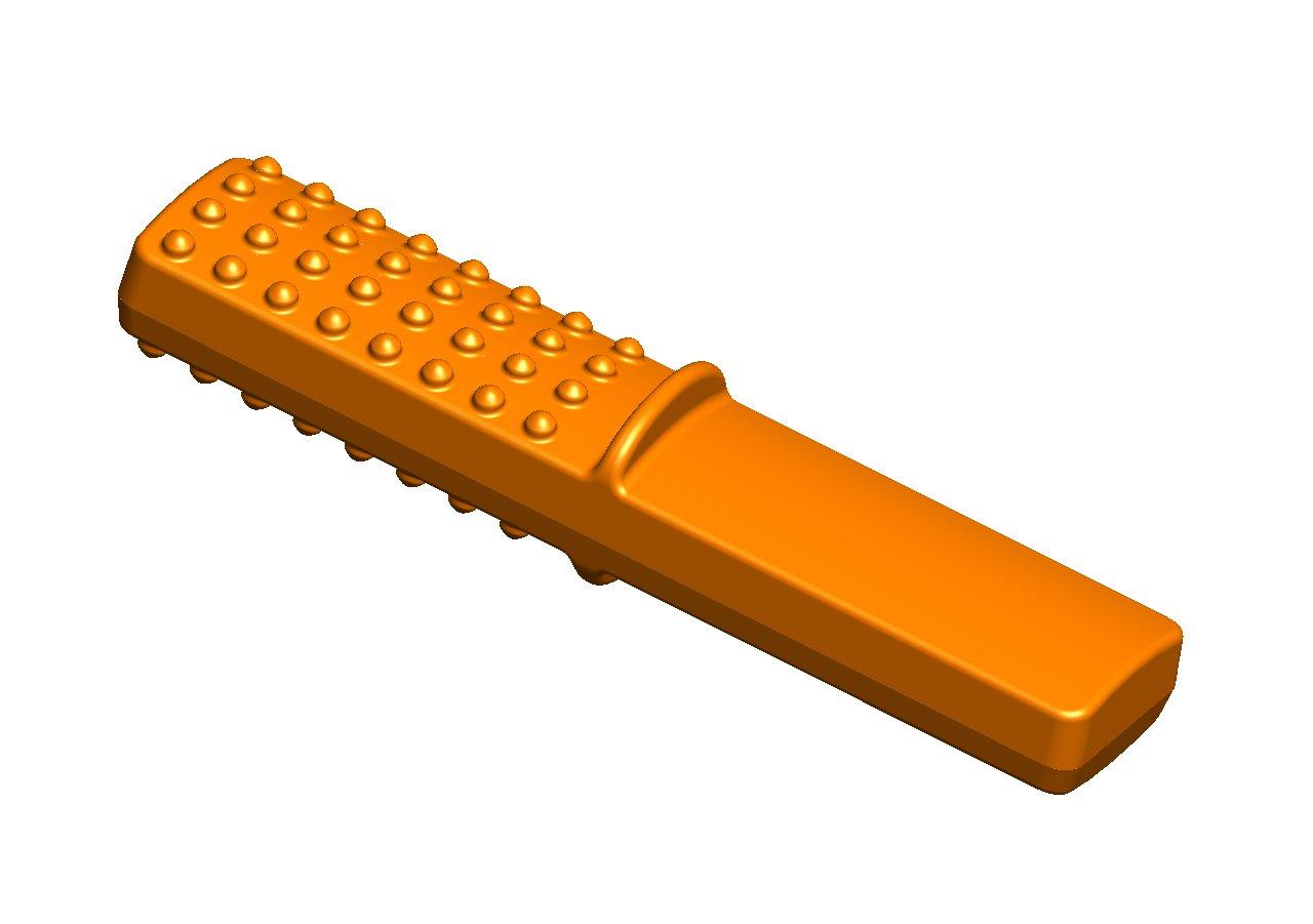 Chewy Stixx Orange Oral Tubes Tough Bar Orange Flavor-for Children with Aggressive Biting Habits.