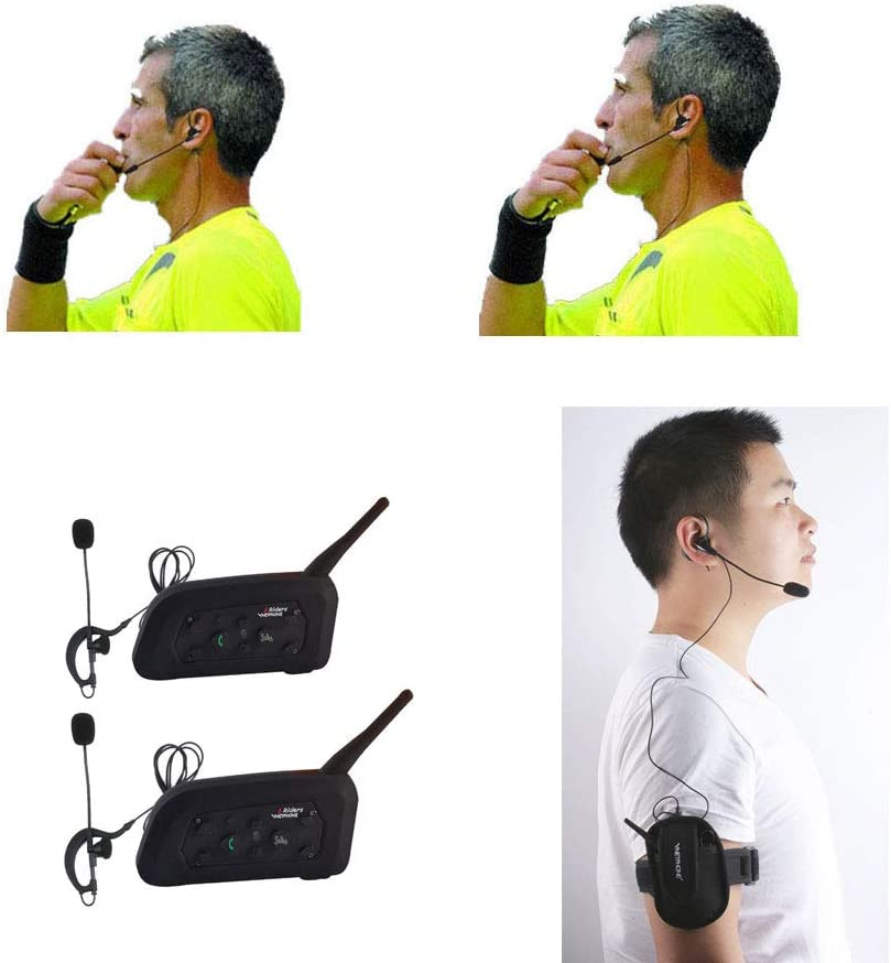 Referee Headset 2 Referees Full Duplex Football Wireless Comunicador Football Headsets Referee Communication