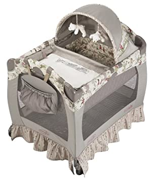 Amazon Com Evenflo Minisuite Signature Playard With Bassinet Changer Once Upon A Time Discontinued By Manufacturer Baby