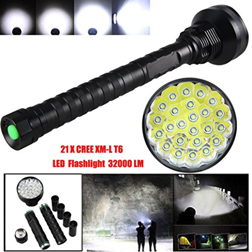 Iuhan® 32000LM 24x XML T6 LED Flashlight 5 Modes Torch 26650/18650 Camping Lamp Light