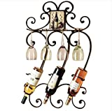 European - style high - end Iron wine glass frame wall decorated wine racks hanging red wine frame wine rack