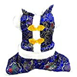 Dogloveit Chinese New Year Style Costume Clothes for Dog Cat Puppy Pet, Blue, Large