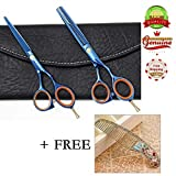 EYX Formula Professional Barber Scissors Hair Scissors Shears ,Hairdressing tool Hair Thinning &Regular scissors Set with Free Comb for Cutting