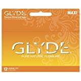 GLYDE MAXI Premium Ultra Thin Large Condoms 12-pack / Sensitive & Strong : The #1 Natural Condom in Australia