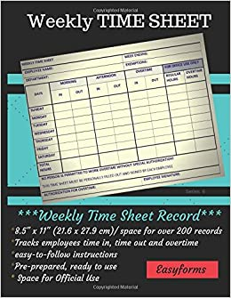 weekly time sheets series 6 weekly time log employee logbook time