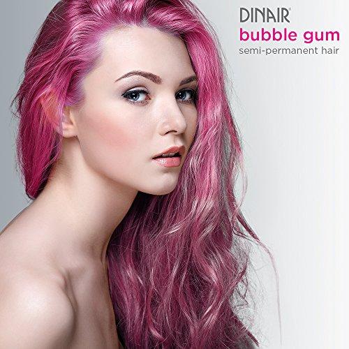 Dinair Airbrush Semi-Permanent Hair Color | Bubble Gum Pink 2 oz. -