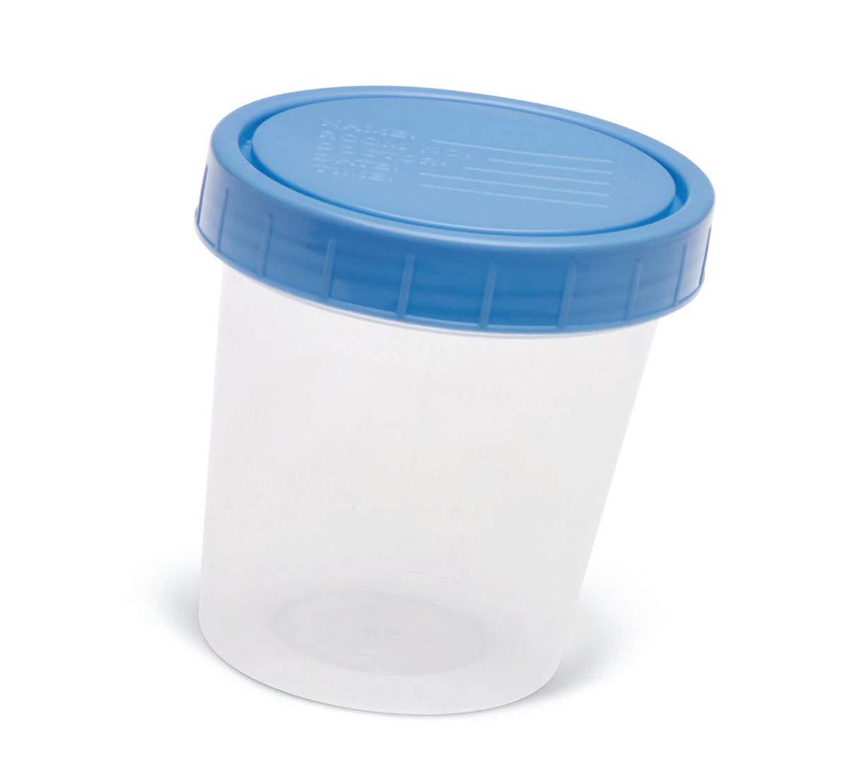 Specimen Cups with Patient Info On Screw Cap Lid (50)