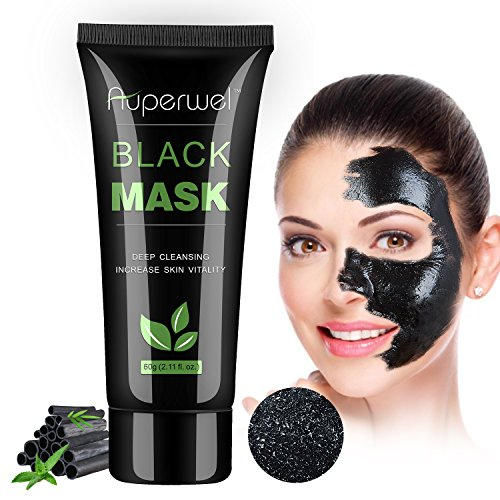 Auperwel Black Mask Blackhead Remover - Purifying Quality Charcoal  Peel off  Mask Deep Cleaning  Facial Mud Mask 2.11 ounce